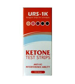 Ketone Test Strips URS-1K Regeant strips for urinalaysis contains 100 strips with Anti-VC interference ability