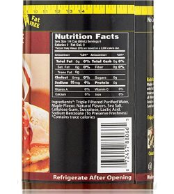Nutrition facts and ingredients panel of Walden Farms Pancake Syrup 355mL