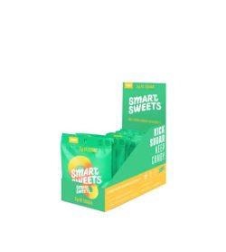 green box of 12 smart sweets low sugar vegan candy peach rings