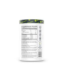 Supplement facts and ingredients panel of BODYLOGIX BCAA Complex shown in white background