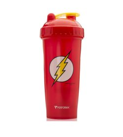 Red bottle with red cap of Performa Classic Shaker Cup 28oz Flash