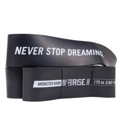 Black Rise Monster Bands with words Never Stop Dreaming shown in white background