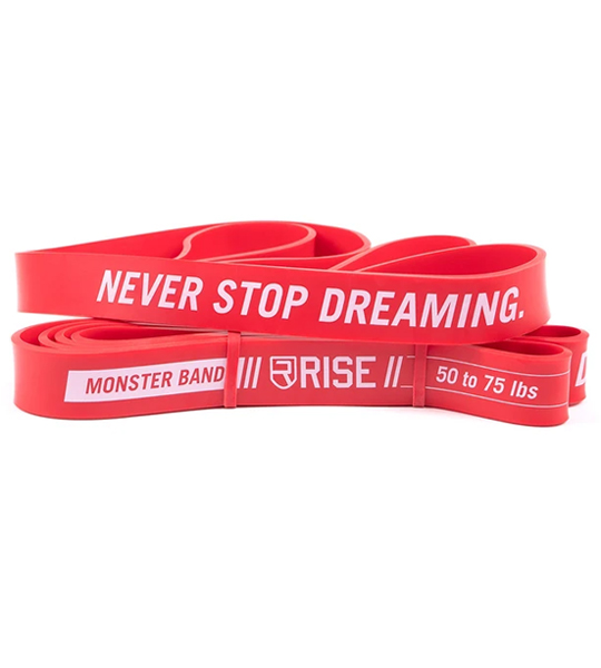 2 Red Rise Monster Bands shown in white background