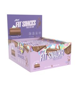 One purple and brown box of Alaninu Fit Snacks Protein Bars 1Box Chocolate Cake flavour