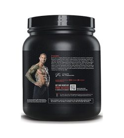 One black and pink container of Jym Fast Digesting Carbs Mandarin Orange facts side