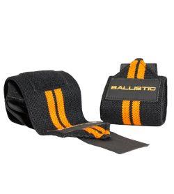 2 black and orange Ballistic Labs UltraSoft Wrist Wraps