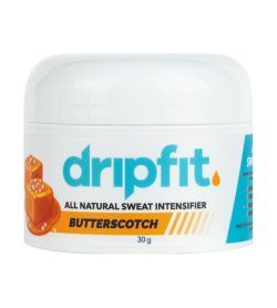 One white blue and orange container of Dripfit Mini Butterscotch 30 g