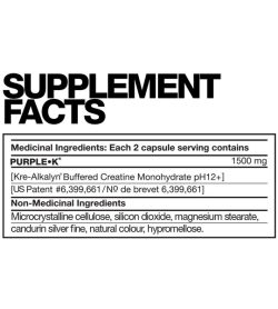 Fusion Purple K supplement facts