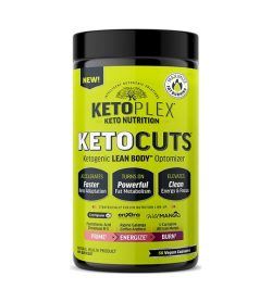 One green and black container of KetoPlex KetoCuts Lean Body Optimizer 56 caps