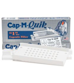 One blue box of NOW Cap.M.Quik Capsule Filler showing the product outside