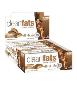 One white and brown box of NUTRAPHASE CLEAN fats 12 bars