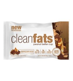 One white and brown pack of NUTRAPHASE CLEAN fats bars