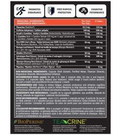 Precision Megaburn 60 Capsules Nutrition facts medicinal ingredients