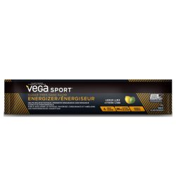 One brown and yellow pack of Vega Sport Sugar Free Energizer Single Serve 3.2g Lemon Lime flavour