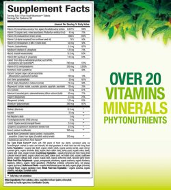 Whole Earth & Sea Womens Prenatal supplement facts banner