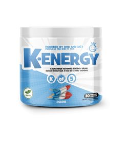 One white and blue container of Yummy Sports K Energy Ziclone flavour