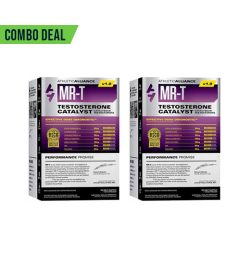 2 grey and purple boxes of ATHLETIC ALLIANCE MR-T TESTOSTERONE CATALYST combo