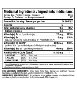 Allmax Aminocore 90 Servings non-medical ingredients facts