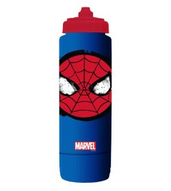 One blue HydroCase Marvel Squeeze Bottle SpiderMan in white background