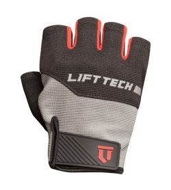 One LiftTech Mens Classic Glove Grey Red