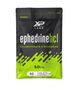 One black and green packet of XP Labs Ephedrine HCL 8mg 50 tablets