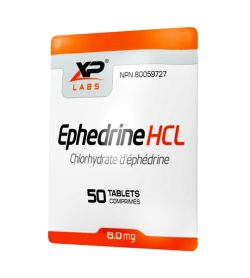 One white and orange packet of XPLabs Ephedrine HCL 8mg 50 tablets