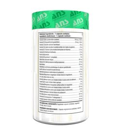 One white and green container of ANS Fresh1 Multivitamin 60 Capsules facts side