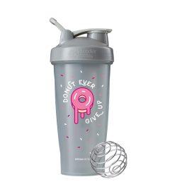 One gray Blender Bottles Special Edition Donut