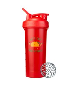 One red Blender Bottles Special Edition Let's Taco Bout Fitness