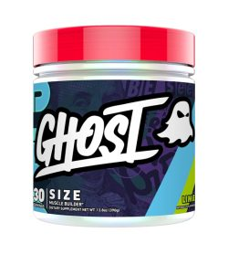 One purple and red container of Ghost Lean Muscle Builder 30 servings Lime flavour