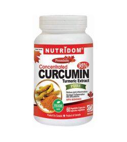 One white and orange bottle of Nutridom Curcumin Turmeric Extract 400mg 60caps