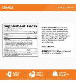 Optimum Nutrition Amino Energy 65Servings Orange supplement facts panel