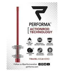 One label of Performa Frontline Services Shaker Bottle actionrod technology