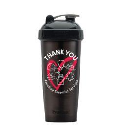 One black bottle of Performa Frontline Services Shaker Bottle thank you
