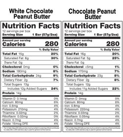 Allmax Protein SnackBar Sport 57g nutrition facts panel