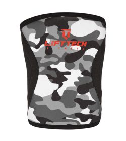 Black camouflage design LiftTech Pro 7mm Knee Sleeves