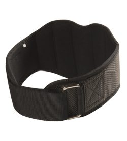 Black Lifttech Compressed Camber Belt 7.5 Firm Fit shown in white background