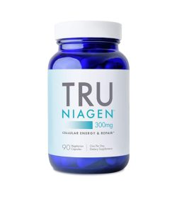One white and blue bottle of TRU Niagen 90 caps 300mg CELLULAR ENERGY & REPAIR