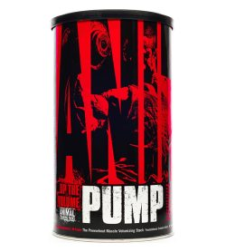 One black and red container of Universal Animal Pump 30 Servings shown in white background