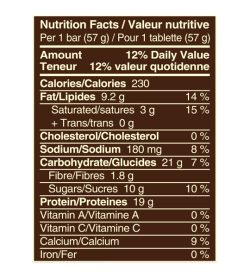 snickers limited edition hi protein peanut butter bars supplements fact panel