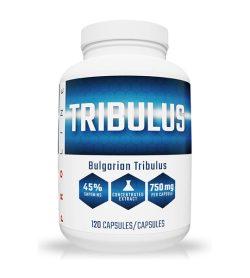 One white and blue bottle of Pro Line Bulgarian Tribulus 120 Caps