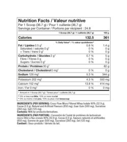 Nutrition fact and ingredients panel of Pro Line ISO Advanced Protein 5 lbs Per 1 Scoop (36.7 g)
